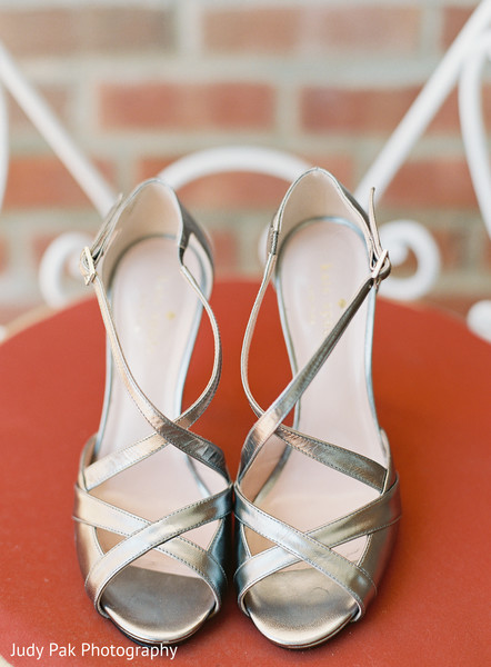 Shoes in New York, NY Indian Fusion Wedding by Judy Pak Photography