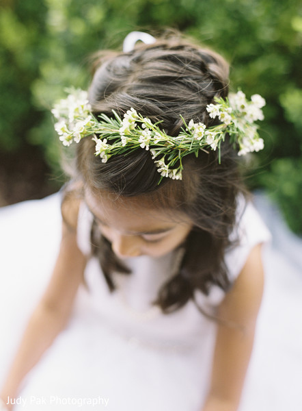 Flower Girl Details in New York, NY Indian Fusion Wedding by Judy Pak Photography
