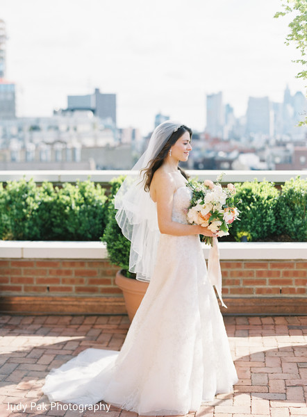 Bridal Portrait in New York, NY Indian Fusion Wedding by Judy Pak Photography