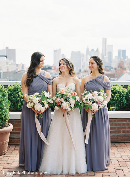 Bridal Party in New York, NY Indian Fusion Wedding by Judy Pak Photography