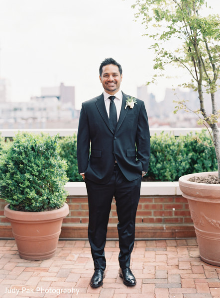 Groom Fashion in New York, NY Indian Fusion Wedding by Judy Pak Photography