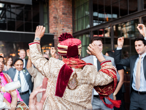 Baraat in New York, NY Indian Fusion Wedding by Judy Pak Photography