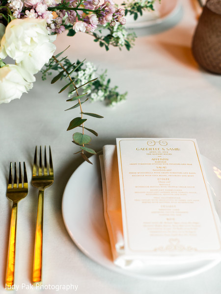Table Setting in New York, NY Indian Fusion Wedding by Judy Pak Photography