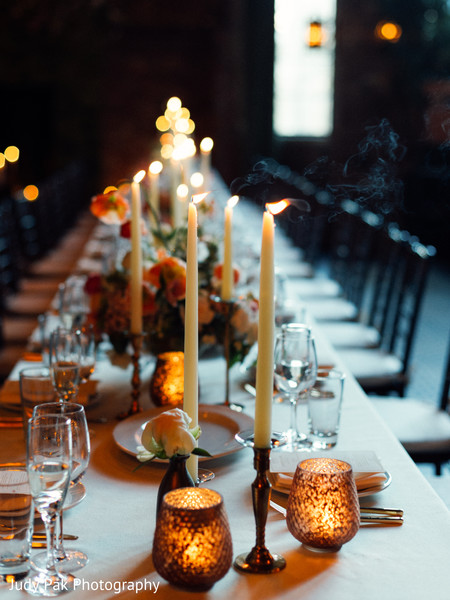 Lighting in New York, NY Indian Fusion Wedding by Judy Pak Photography