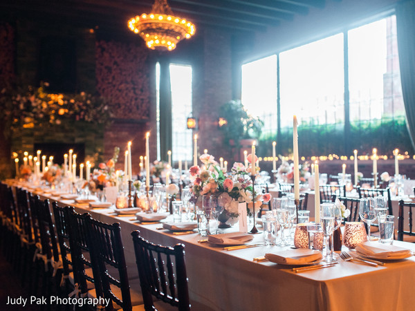 Floral & Decor in New York, NY Indian Fusion Wedding by Judy Pak Photography