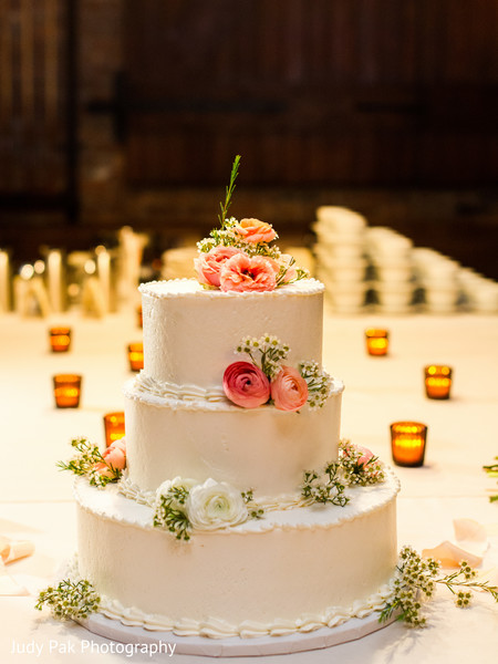 Wedding Cake in New York, NY Indian Fusion Wedding by Judy Pak Photography