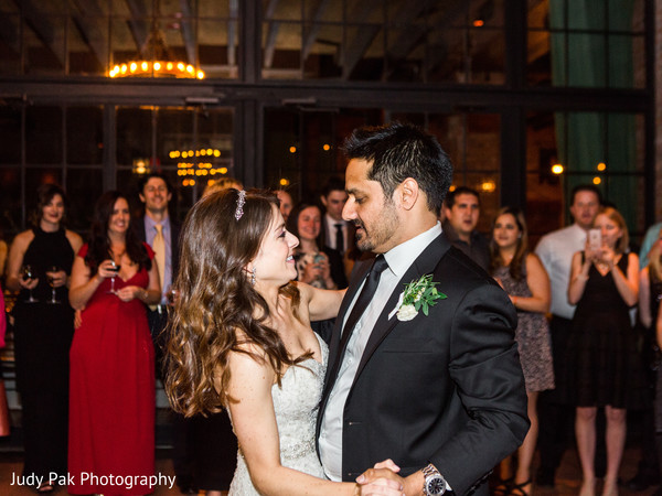 Reception in New York, NY Indian Fusion Wedding by Judy Pak Photography