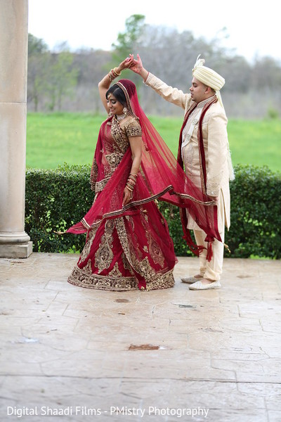 First look in Lewisville, TX Indian Wedding by PMistry Events/Digital Shaadi Weddings