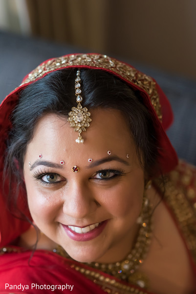 Hair and makeup in Jersey City, NJ Indian Wedding by Pandya Photography