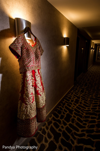 Bridal lengha in Jersey City, NJ Indian Wedding by Pandya Photography