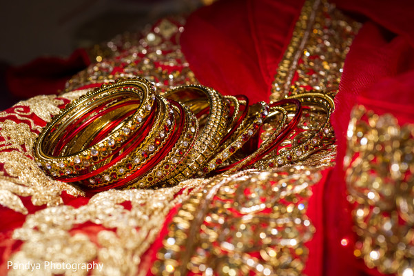Bridal jewelry in Jersey City, NJ Indian Wedding by Pandya Photography