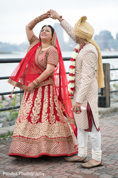 First look in Jersey City, NJ Indian Wedding by Pandya Photography