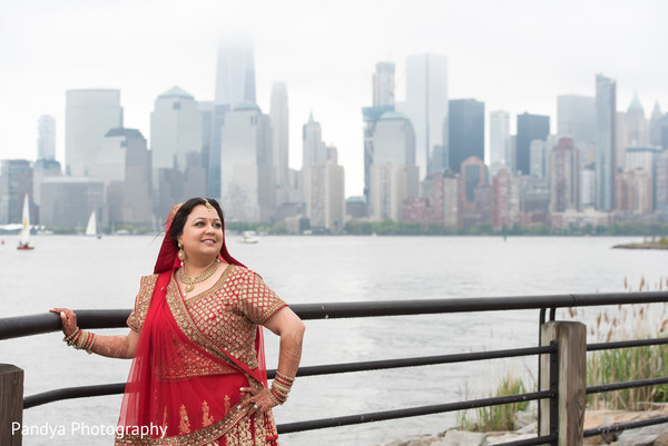 Indian bride in Jersey City, NJ Indian Wedding by Pandya Photography