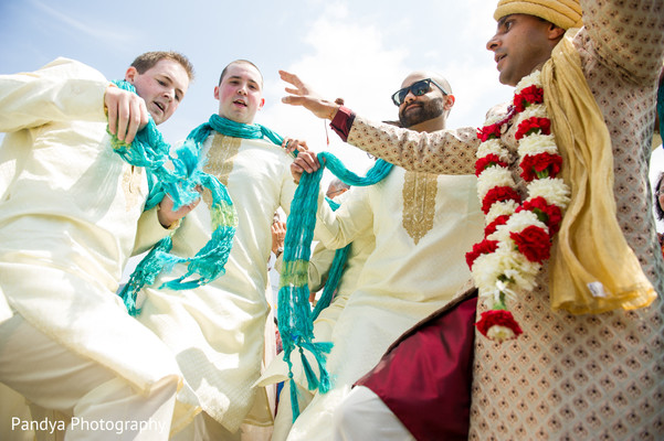 Baraat in Jersey City, NJ Indian Wedding by Pandya Photography