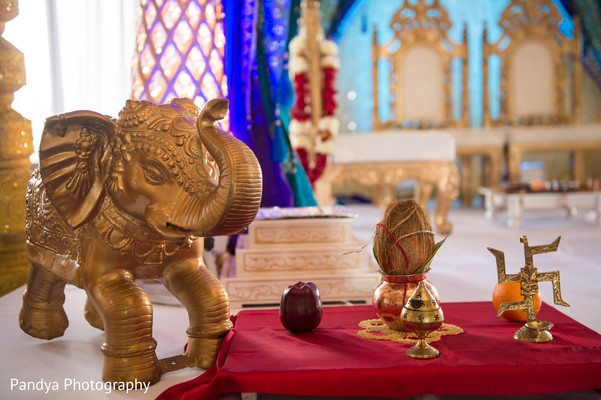 Ceremony decor in Jersey City, NJ Indian Wedding by Pandya Photography