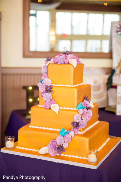 Wedding cake in Jersey City, NJ Indian Wedding by Pandya Photography