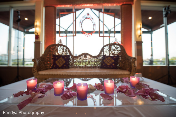 Sweetheart stage in Jersey City, NJ Indian Wedding by Pandya Photography