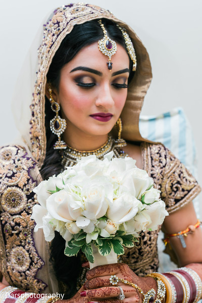 Makeup & Bouquet in Downers Grove, IL Hindu-Sikh Fusion Wedding by Dars Photography