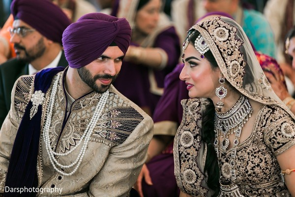 Ceremony in Downers Grove, IL Hindu-Sikh Fusion Wedding by Dars Photography