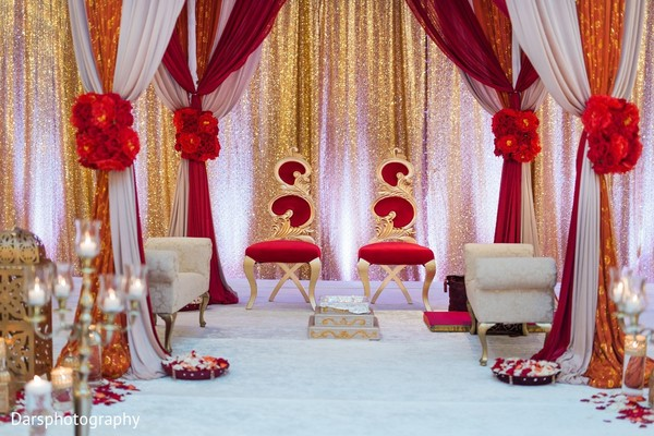 Decor in Downers Grove, IL Hindu-Sikh Fusion Wedding by Dars Photography