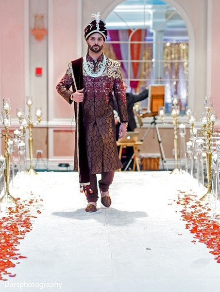 Groom Fashion in Downers Grove, IL Hindu-Sikh Fusion Wedding by Dars Photography