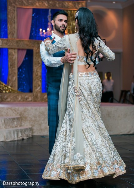 Reception in Downers Grove, IL Hindu-Sikh Fusion Wedding by Dars Photography