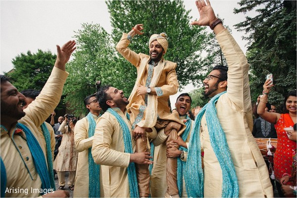 Baraat in Detroit, MI Indian Wedding by Arising Images