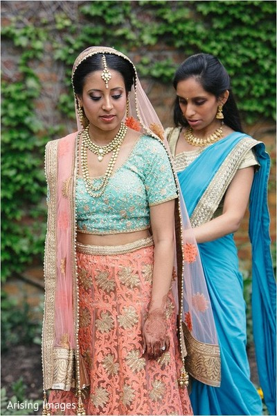 Getting ready in Detroit, MI Indian Wedding by Arising Images