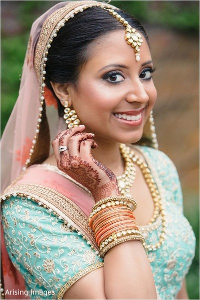 Indian bride in Detroit, MI Indian Wedding by Arising Images