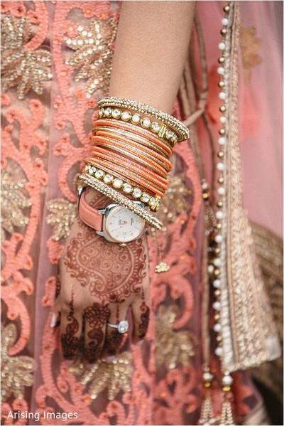 Bridal jewelry in Detroit, MI Indian Wedding by Arising Images