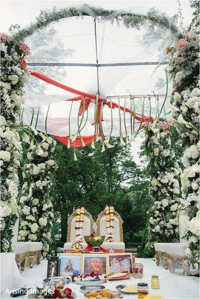Mandap in Detroit, MI Indian Wedding by Arising Images