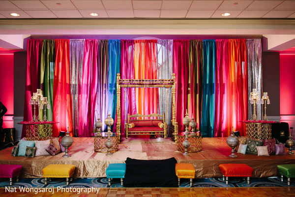Sangeet in Arlington, VA Indian-Pakistani Fusion Wedding by Nat Wongsaroj Photography