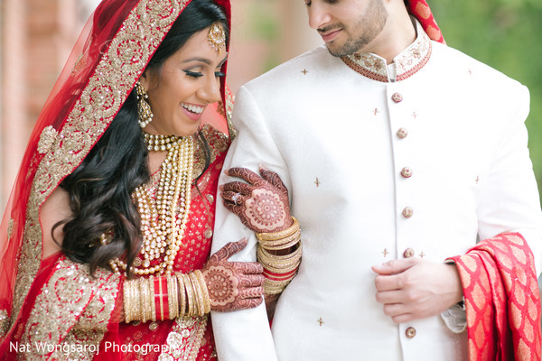 First Look in Arlington, VA Indian-Pakistani Fusion Wedding by Nat Wongsaroj Photography