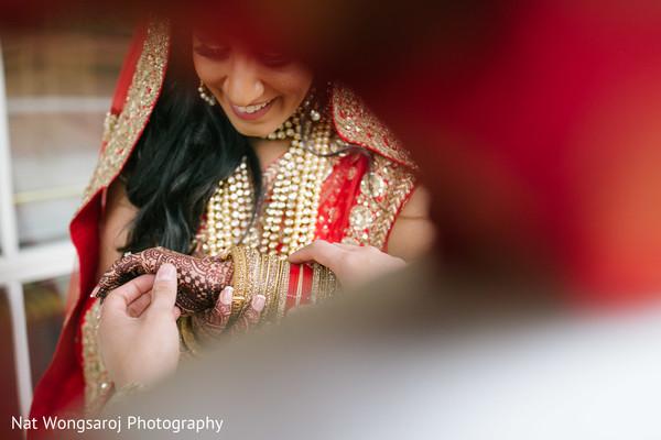 First Look in Arlington, VA Indian-Pakistani Fusion Wedding by Nat Wongsaroj Photography