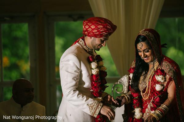 Ceremony in Arlington, VA Indian-Pakistani Fusion Wedding by Nat Wongsaroj Photography