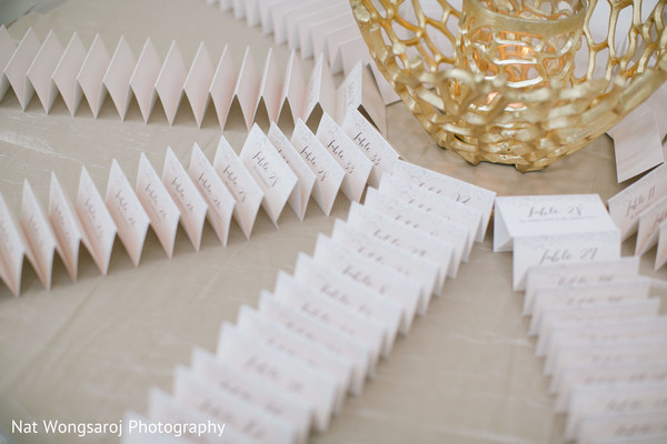 Place Cards in Arlington, VA Indian-Pakistani Fusion Wedding by Nat Wongsaroj Photography
