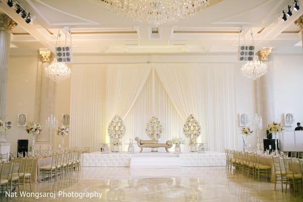 Floral & Decor in Arlington, VA Indian-Pakistani Fusion Wedding by Nat Wongsaroj Photography