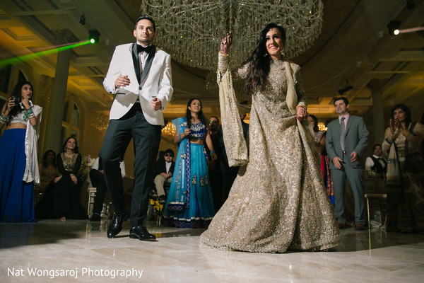 Reception in Arlington, VA Indian-Pakistani Fusion Wedding by Nat Wongsaroj Photography