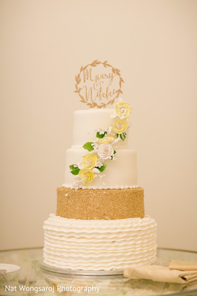 Wedding Cake in Arlington, VA Indian-Pakistani Fusion Wedding by Nat Wongsaroj Photography