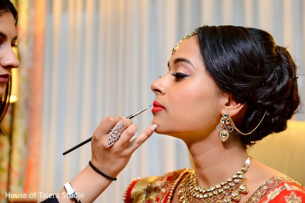 Getting Ready in Pearl River, NY Indian Wedding by House of Talent Studio