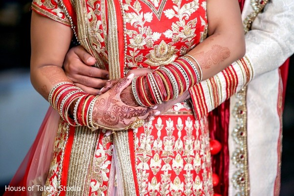 First Look in Pearl River, NY Indian Wedding by House of Talent Studio