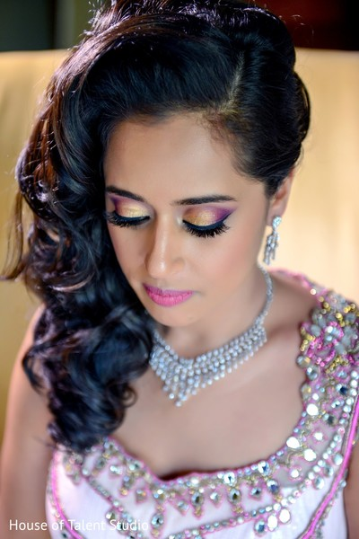 Hair & Makeup in Pearl River, NY Indian Wedding by House of Talent Studio