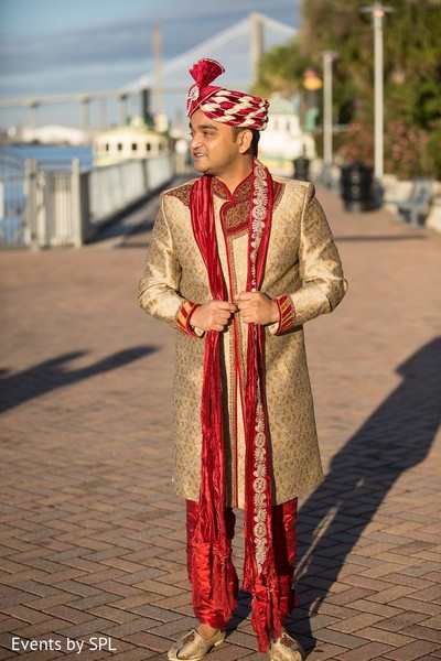 Groom Fashion in Savannah, GA Indian Wedding by Events by SPL