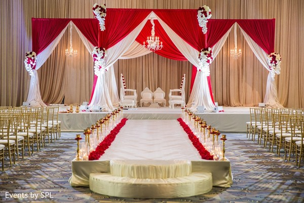 Ceremony Decor in Savannah, GA Indian Wedding by Events by SPL