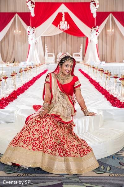 Bridal Portrait in Savannah, GA Indian Wedding by Events by SPL