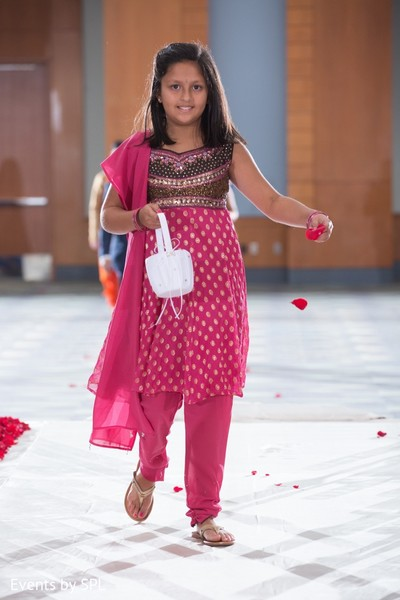 Flower Girl in Savannah, GA Indian Wedding by Events by SPL