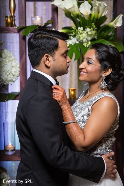 Reception Portrait in Savannah, GA Indian Wedding by Events by SPL
