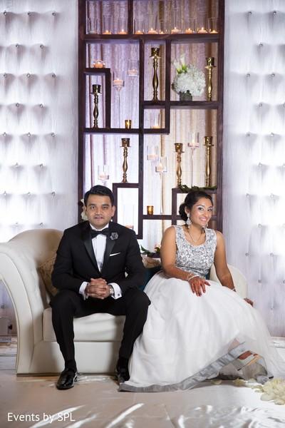Reception Portrait in Savannah, GA Indian Wedding by Events by SPL