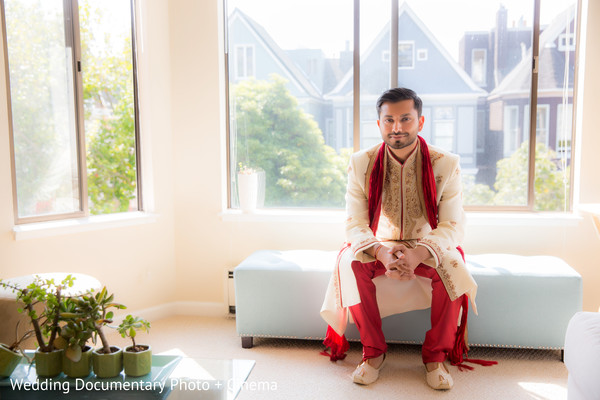 Indian groom in San Francisco, CA Indian Fusion Wedding by Wedding Documentary Photo + Cinema