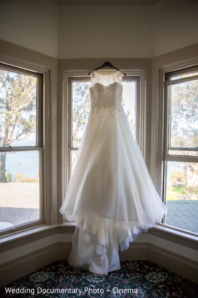White wedding dress in San Francisco, CA Indian Fusion Wedding by Wedding Documentary Photo + Cinema